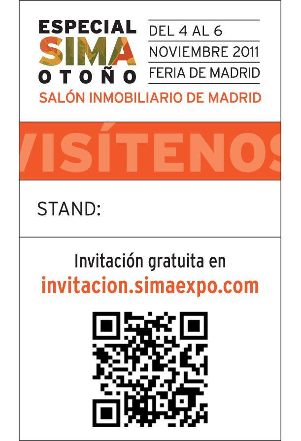 ¡Si tienes un smartphone y un lector de códigos QR, ya tienes invitación a SIMA Otoño!