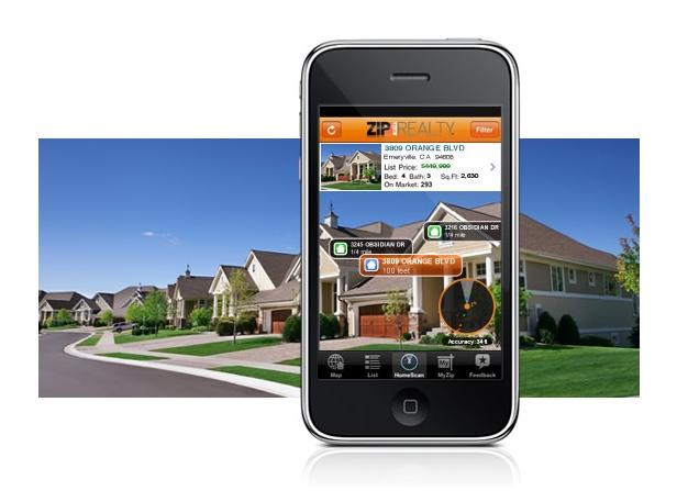 Aplicaciones de realidad aumentada como las de Idealista.com o ZipRealty.com, te permiten interactuar con la imagen real que capta la cámara de tu smartphone y las capas de información contenidas en la aplicación.